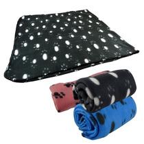 Cobertor Caes Gatos Pet Soft Macio Estampado - Tamanho 2