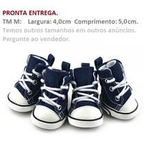 Sapato Tênis Para Cachorro Tipo All Star Jeans Tm 03 M