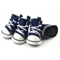 Sapato Tênis Para Cachorro Tipo All Star Jeans Tm M