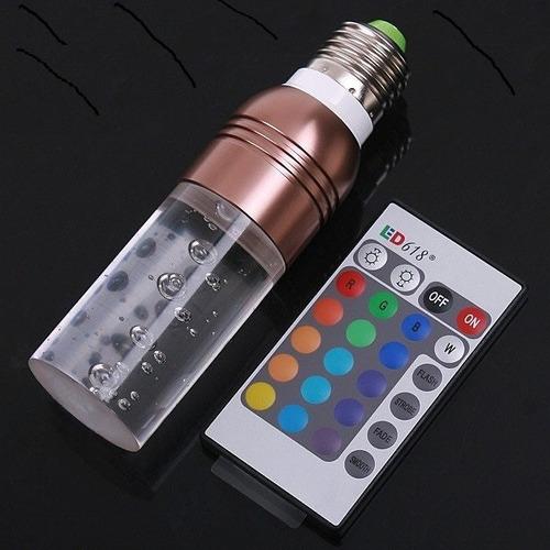 decoracao lampadas led : decoracao lampadas led:Lampada Led Cristal E27 3w Rgb P/ Decoração, Cromoterapia – R$ 58,90