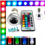 Lampada Rgb Spot Led 3w E27 16 Cores Bivolt Controle Remoto