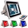 Refletor Holofote Led Rgb 20w Ip65 Bivolt Com Controle Bivol