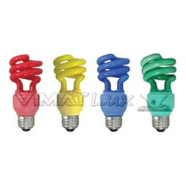 Lampada Espiral Fluorescente Colorida - 15w Xelux