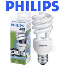 6 Lâmpadas Philips Eletrônica Espiral 20w Branca 127v