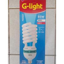 Kit 03 Lampada Fluorescente Espiral 85w 220v 6400k G-light