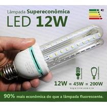 Lâmpada Led 12w Super Econômica Branca 6000k E27 Bivolt