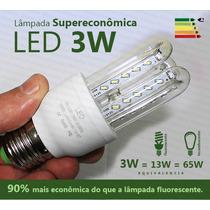 Lâmpada Led 3w Super Econômica Branca 6000k E27 Bivolt