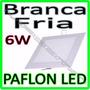 Luminaria Painel Plafon Led Embutir Ultra Slim Quadrado 6w