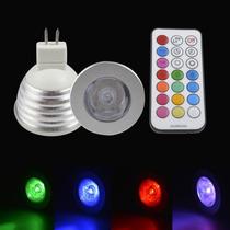 Lampada Led Rgb 16 Cores 24 Funções 12v Controle Remoto