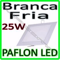 Painel Plafon Luminaria Led Embutir Ultra Slim 25w Quadrado