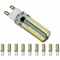 Kit 10 Lâmpada Led Halopim G9 P/ Lustres E Pendentes 3w 110v