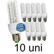 Lâmpada Led 7w 3u Kit 10 Uni Bivolt 90% Mais Econômico E27