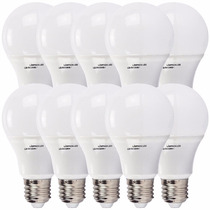 Kit 10 Lampada Led 9w Bulbo Soquete E27 Bivolt Casa Comercio