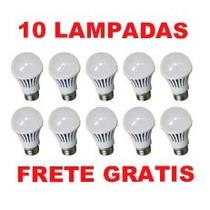 Kit 10 Lampadas Led 7w Bulbo E27 Envio Hoje Promoção