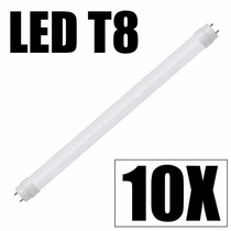 Kit 10 Lâmpada Led Fluorescente Tubo Tubular T8 120cm 20w