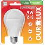 10 Unidades - Lampada Led 9w E27 Ourolux Luz Branca 6400k