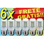 Lote 6 Lâmpada 24 Led Milho 7w 110v Soquete E27 90% Econômia