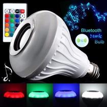 Lampada Luz Led Com Alto Falante Bluetooth E Controle Remoto