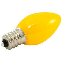 25pk - C7 Led 0.5w Fosco Vidro 120v E12 Amarelo