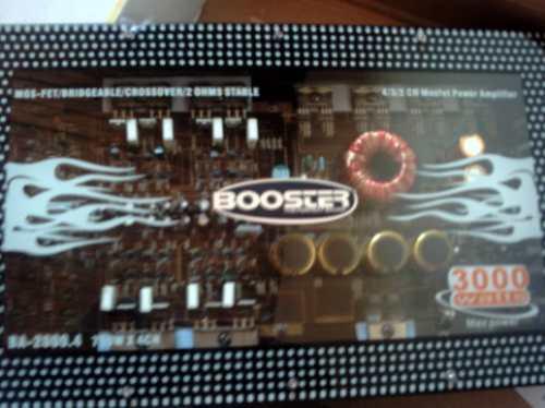 Lançamento! Modulo Booster Com Frente Acrilico 3.000 Watts!!