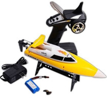 Mini Lancha Ft007 Racing Boat 4ch 2.4ghz Rc Rtr Ft007