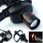 Lanterna Tática De Cabeça Led Cree Zoom 500w