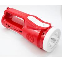 Radio Lanterna Led Mão Mesa Recarregável Usb/fm/sd Gravador