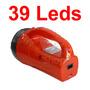 Lanterna 39 Leds Com Função Luz De Emergência Recarregável