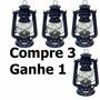 Kit Com 4 Unidades - Lampião Querosene A Pavio 24cmx14cm