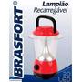 Lampião Recarregável Brasfort 30led Biv / Luminárias Camping