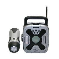 Kit Lanterna Rádio Am Fm Luz Emergência Max42722