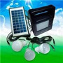 Kit Painel Placa Solar Com Bateria Camping+3 Lampadas Led