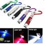 Mini Chaveiro C/ Laser Pointer Lanterna Led-alcança 6km