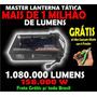 Mega Lanterna Tática Super Led Cree T6 Frete Grátis + Brinde