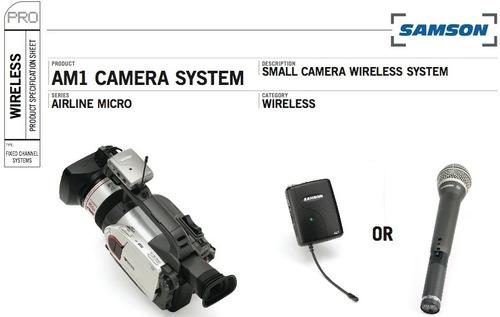 Lapela Sem Fio Micro Kit Camera Am1 Camera System Samson