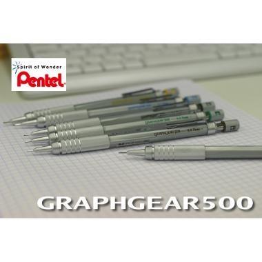 Lapiseiras Pentel - Graphgear 500 -0,3 Ou 0,5ou 0,7 Ou 0,9mm