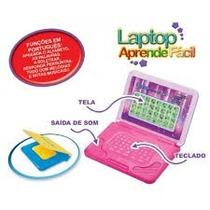 Laptop Mini Infantil Aprende Fácil Interativo Munditoys 3+