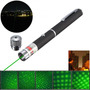 5-in-1 532nm Poderoso 5mw Verde Laser Pointer Pen 0.5mw Estr
