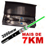 Caneta Laser Pointer Verde Green Lanterna 3000mw Alcança 7km