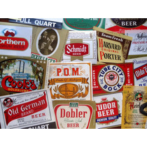 25 Rótulos Diferentes De Cerveja - Anos 40 A 70 - Originais!
