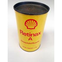 Lata De Graxa Shell Retinax A Antiga Raríssima Coleção Óleo