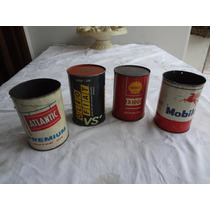 Latas Oleo Anos 50/60 Mobil Atlantic Havoline Shel ( Fusca
