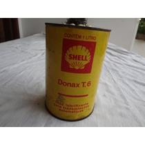 Lata Oleo Shell Anos 60 Em Metal Unica