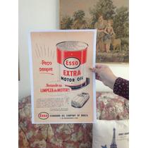 Cartaz Propaganda Antiga Lata De Óleo Esso Década De 50