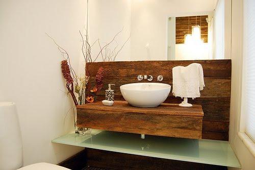 decoracao bancada lavabo : decoracao bancada lavabo:Lavabos E Bancadas, Pia Banheiro – Em Madeira De Demolição – R$ 400