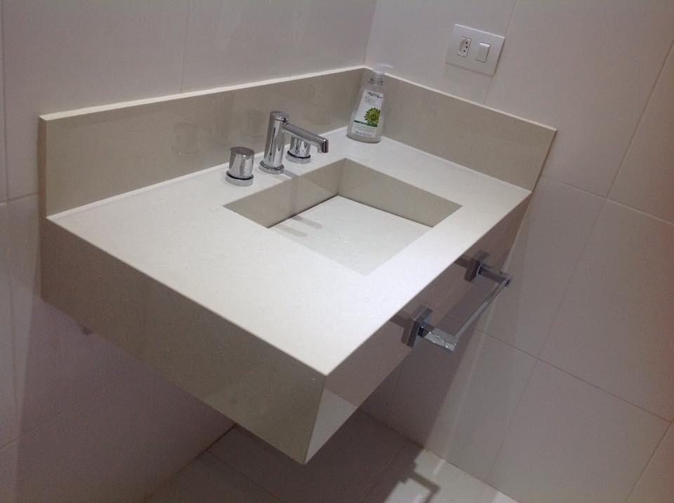 Pin Banheiro Com Bancada Em Silestone Estelar Azul E Miscelanea Especial on P -> Pia De Banheiro Feita De Sobra De Porcelanato