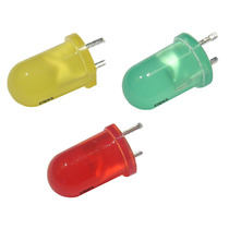 Kit 100 * Led Difuso 5mm Vermelho Verde Amarelo Everlight
