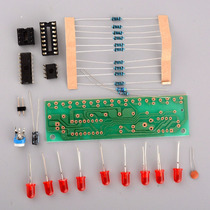 Kit Montagem Eletronica Sequencial 10 Leds Cd4017 Frete $10