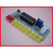 Kit De Eletrônica Para Montar Vu Meter De Leds Com Ci Lm3915