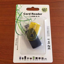 Leitor De Cartao Universal 32 Em 1 Vira Pen Drive 32 Usb 2.0